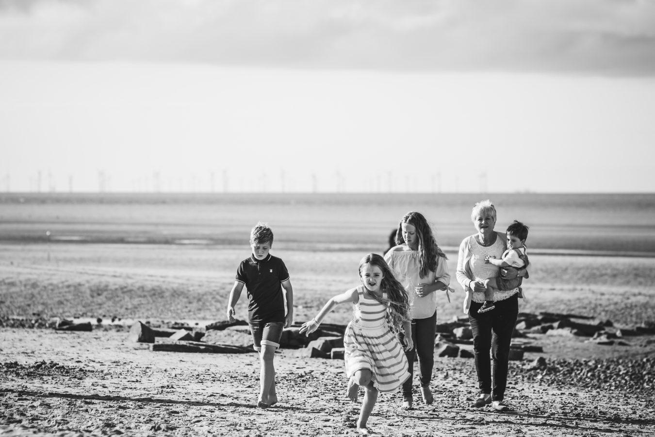 Family Photographer beach session Talacre Wrexham Photographer